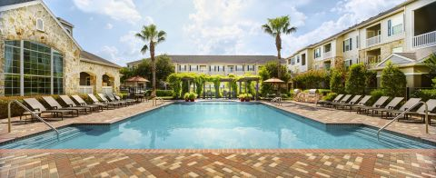 Resort-style Pool at Camden Downs at Cinco Ranch Apartments in Katy, TX