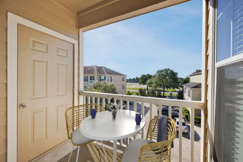 Balcony at Camden Downs at Cinco Ranch Apartments in Katy, TX