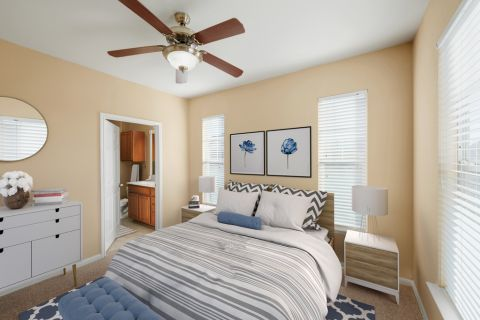Bedroom at Camden Downs at Cinco Ranch Apartments in Katy, TX
