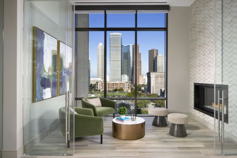 Morning room at Camden Downtown Houston apartments in Houston, Texas