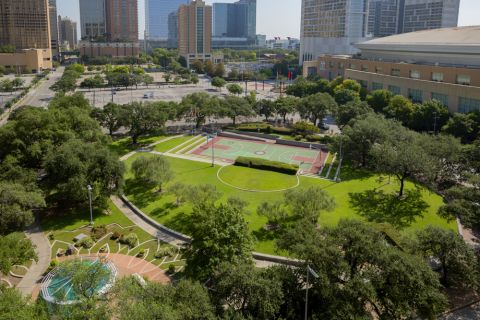 Nearby park at Camden Downtown Houston Apartments in Houston, Texas