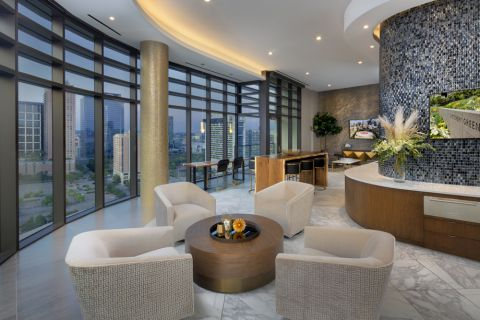 Sky Lounge at Camden Downtown Houston Apartments in Houston, Texas
