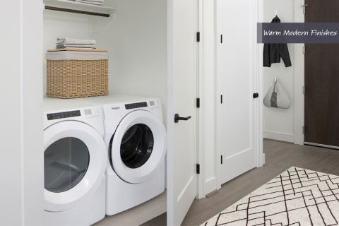Full-Size Washer and Dryer at Camden Downtown Houston Apartments in Houston, Texas