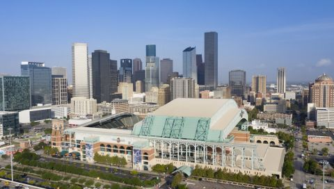 Minute Maid Park and Downtown View near Camden Downtown Houston apartments in Houston, Texas