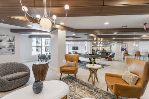 Resident Lounge at Camden Dulles Station Apartments in Herndon, VA