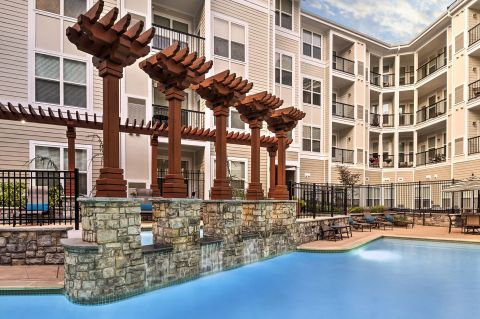 Pool at Camden Dulles Station Apartments in Herndon, VA