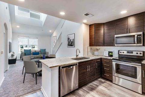 Loft Style Floorplan at Camden Dulles Station Apartments in Herndon, VA