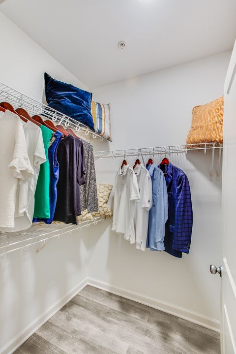 Walk In Closet at Camden Dulles Station Apartments in Herndon, VA