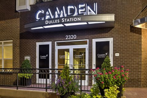 Welcome Center at Camden Dulles Station Apartments in Herndon, VA