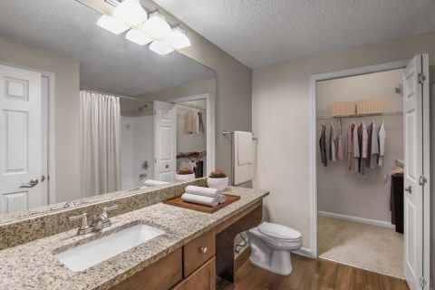 Bathroom at Camden Dunwoody Apartments in Dunwoody, GA