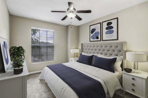 Bedroom at Camden Dunwoody Apartments in Dunwoody, GA
