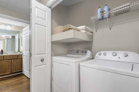 Full-Size Washer and Dryer at Camden Dunwoody Apartments in Dunwoody, GA