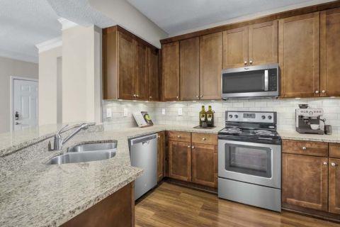 Kitchen at Camden Dunwoody Apartments in Dunwoody, GA