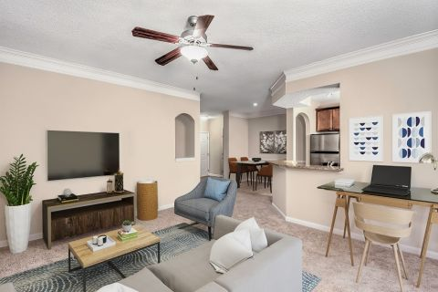 Living Room at Camden Dunwoody Apartments in Dunwoody, GA
