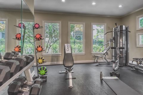 Fitness Center at Camden Dunwoody Apartments in Dunwoody, GA