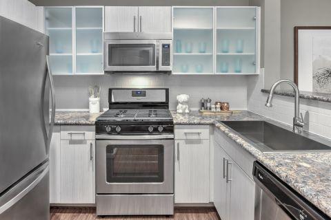 Kitchen at Camden Fair Lakes Apartments in Fairfax, VA