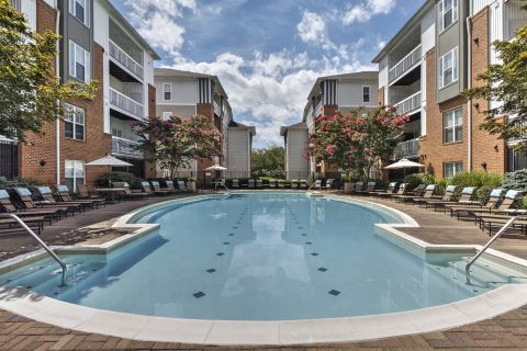 Pool at Camden Fair Lakes Apartments in Fairfax, VA