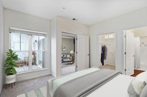 Bedroom at Camden Fair Lakes Apartments in Fairfax, VA