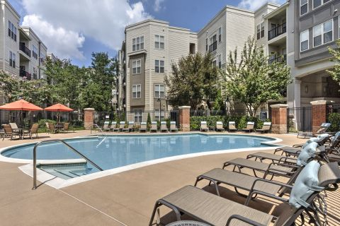 Pool at Camden Fairfax Corner Apartments in Fairfax, VA
