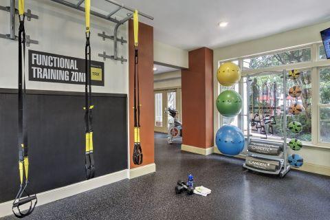 TRX in the Fitness Center at Camden Fairfax Corner Apartments in Fairfax, VA