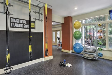 TRX in the Fitness Center at Camden Fairfax Corner Apartments in Fairfax, VA
