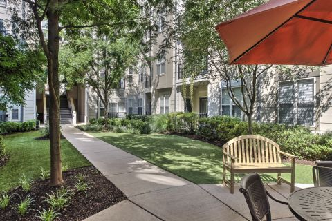 Patios and Balconies at Camden Fairfax Corner Apartments in Fairfax, VA
