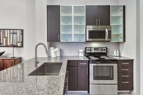 Kitchen at Camden Fairfax Corner Apartments in Fairfax, VA