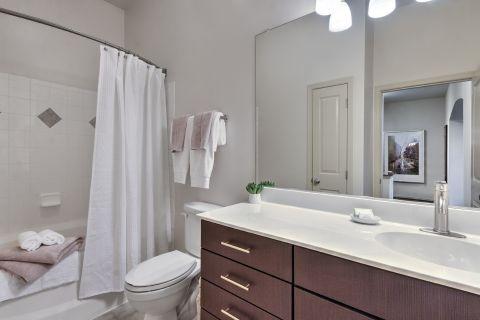 Bathroom at Camden Fairfax Corner Apartments in Fairfax, VA