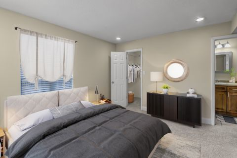 Bedroom at Camden Fairview Apartments in Charlotte, NC