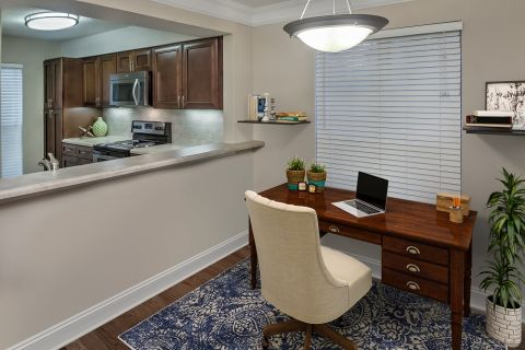 Home Office Space at Camden Fairview Apartments in Charlotte, NC