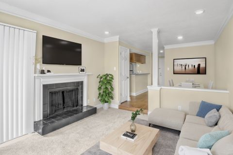 Living Room at Camden Fairview Apartments in Charlotte, NC