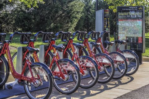 Bike Sharing Station at Camden Fallsgrove Apartments in Rockville, MD