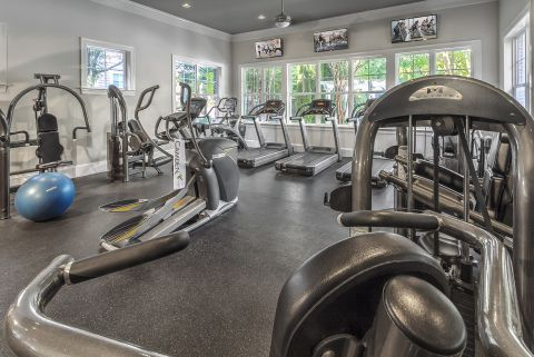 24-Hour Fitness Center at Camden Fallsgrove Apartments in Rockville, MD