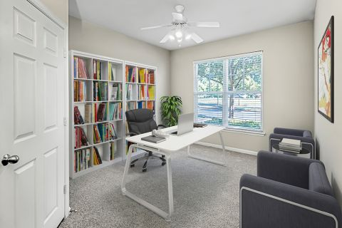 Home Office Space at Camden Fallsgrove Apartments in Rockville, MD