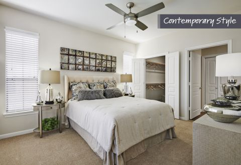 Contemporary Style Bedroom at Camden Farmers Market Apartments in Dallas, TX