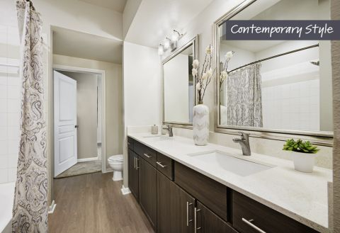 Contemporary Style Bathroom at Camden Farmers Market Apartments in Dallas, TX