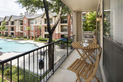 Outdoor Living Space at Camden Farmers Market Apartments in Dallas, TX