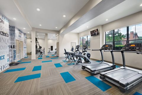 Second Fitness Center with cardio equipment at Camden Farmers Market Apartments in Dallas, TX
