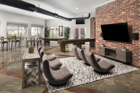 Resident Lounge at Camden Farmers Market Apartments in Dallas, TX