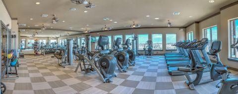 Fitness center at Camden Flatirons Apartments in Interlocken, CO