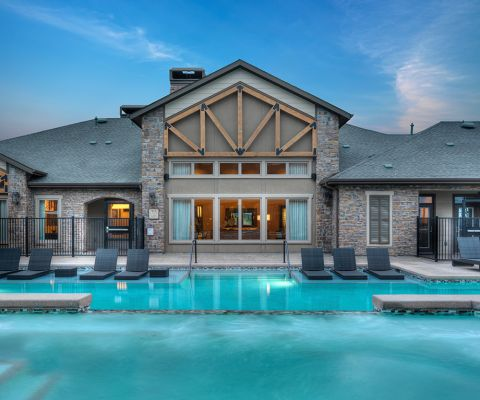 Pool and Clubhouse at Camden Flatirons Apartments in Interlocken, CO