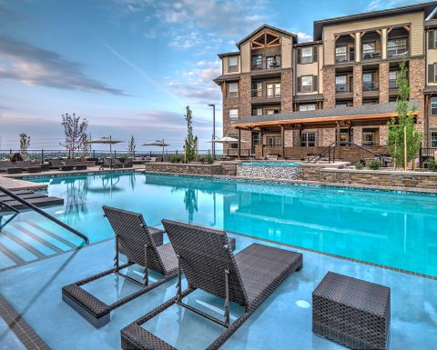 Swimming Pool at Camden Flatirons Apartments in Interlocken, CO