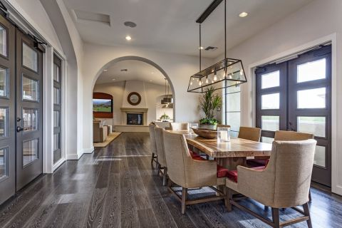 Clubhouse with Dining Table at Camden Foothills Apartments in Scottsdale, AZ