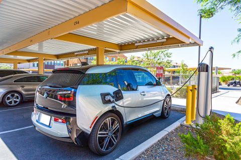 Electric Car Charging Stations at Camden Foothills Apartments in Scottsdale, AZ