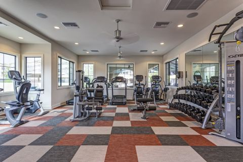 Fitness Center with Cardio Equipment at Camden Foothills Apartments in Scottsdale, AZ