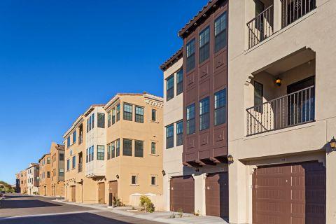 Garages at Camden Foothills Apartments in Scottsdale, AZ