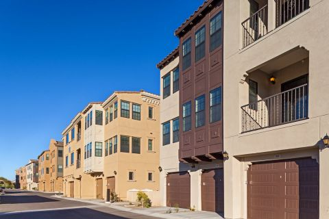 Garages at Camden Foothills Apartments in Scottsdale, AZ