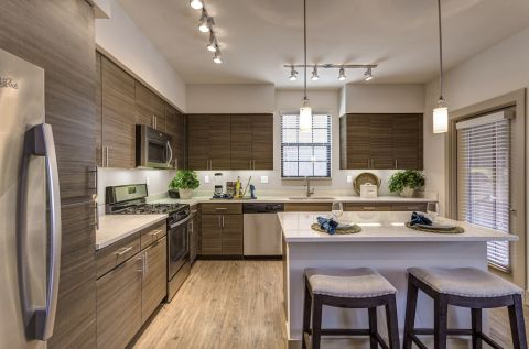 Kitchen with Stainless Steel Appliances at Camden Foothills Apartments in Scottsdale, AZ