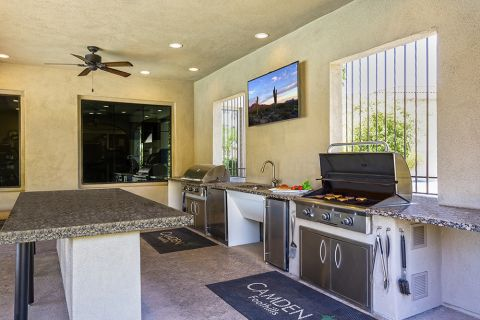 BBQ Grills and Outdoor Dining at Camden Foothills Apartments in Scottsdale, AZ