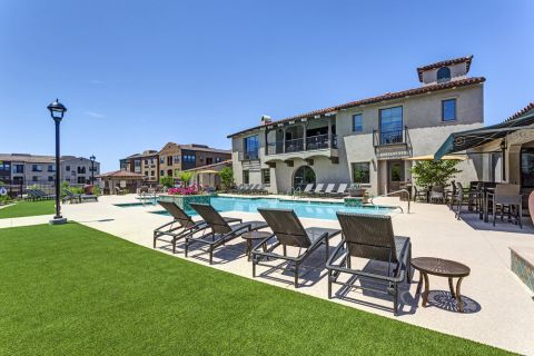 Pool at Camden Foothills Apartments in Scottsdale, AZ